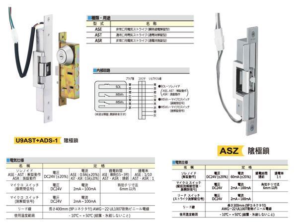 AST,ASZ 陰極電鎖- 高級門鎖- MI...